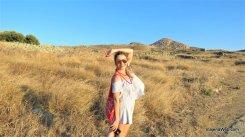 Paisagem de Capim seco da Ilha de Delos