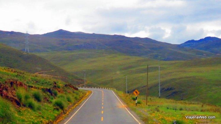 Estradas no Peru para Huaraz