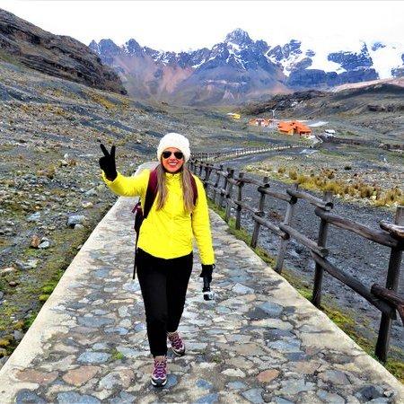 Trilha para o Glacier Pastoruri