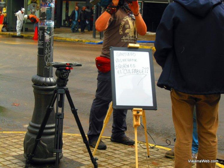 Protestos por Santiago