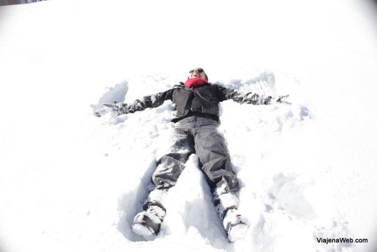 Neve próximo a Santiago
