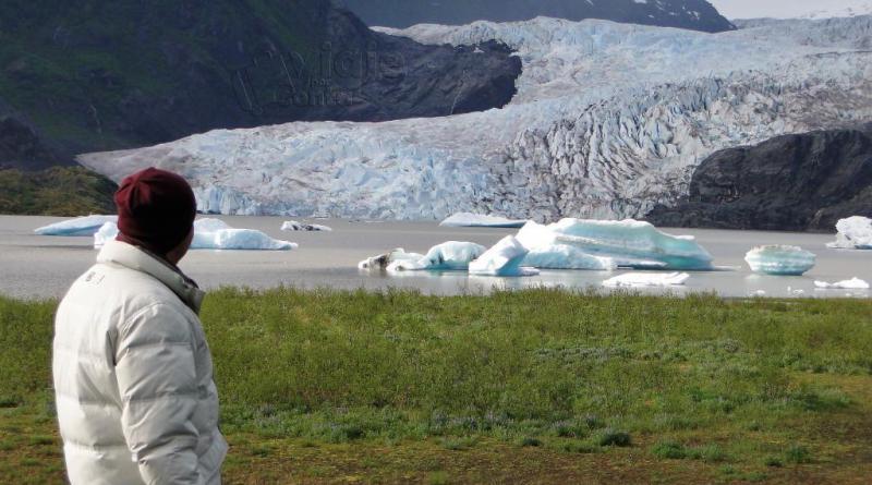Mendenhall Glacier, mais famosa geleira do Alasca, fica em Juneau e é acessível a pé