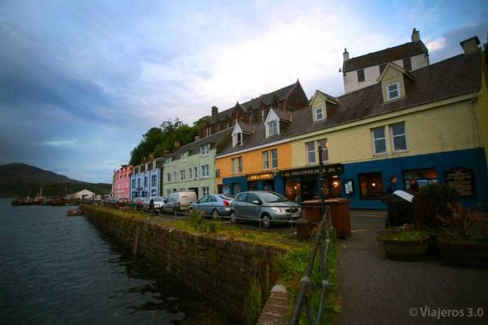 calles de Portree en la isla de Skye