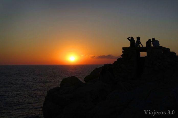 Couchers de soleil de Minorque depuis Punta Nati