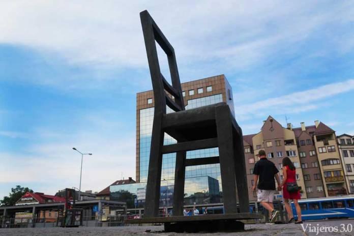 Plaza de los Héroes del Gueto en Cracovia