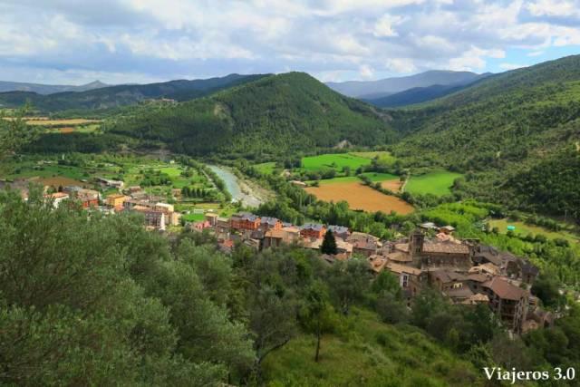 vistas de Boltaña desde el castillo