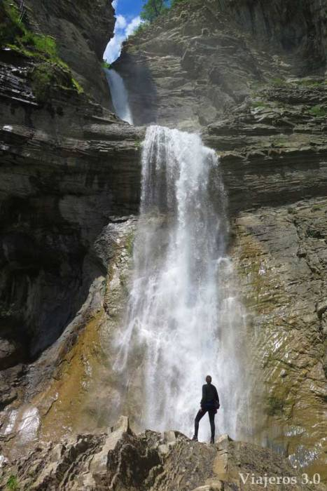 cascada del Sorrosal en Broto, Huesca