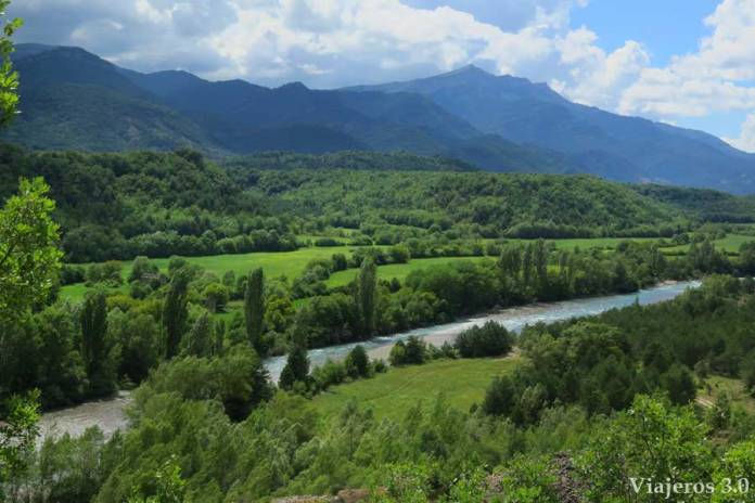 el río Ara desde el mirador de Jánovas