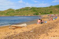 playa Binimel·là en el norte de Menorca