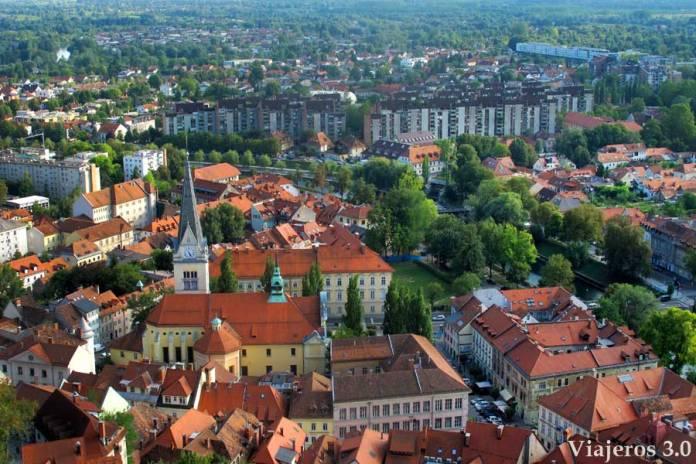 vistas desde el castillo de Liubliana, imprescindibles de Eslovenia
