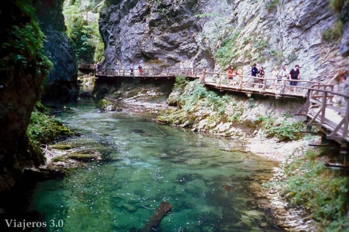 sendero cañón del río Vintgar