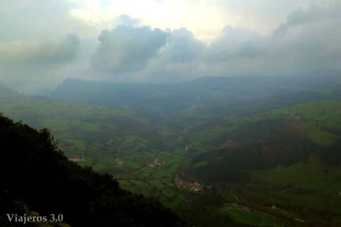 mirador de Aja sobre el valle de Soba