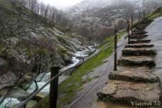 camino adaptado en los pilones, en el Valle del Jerte