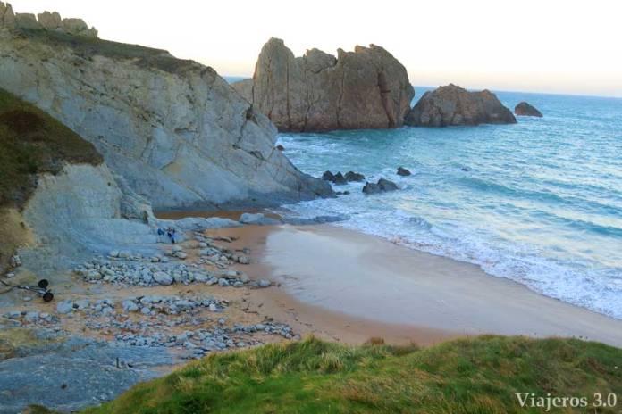 playa de la Arnía en Cantabria