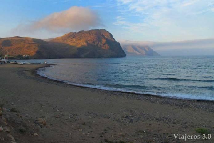 Playa de las Negras en el Parque Natural de Cabo de Gata