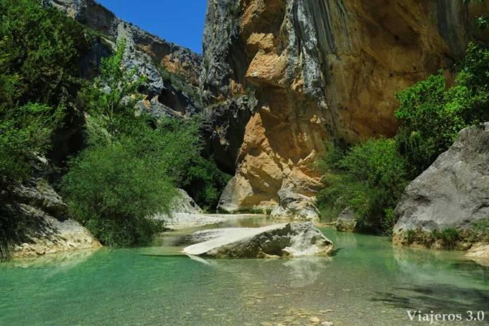 pozas en el cañón del río Vero