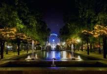 luces navideñas en la Alameda del Prado. Navidad en Sevilla
