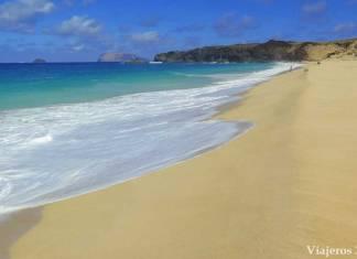 playa de las Conchas en la isla de La Graciosa