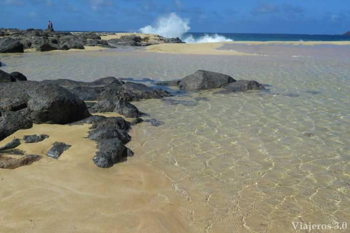 paradisíaca playa de las Conchas en La Graciosa