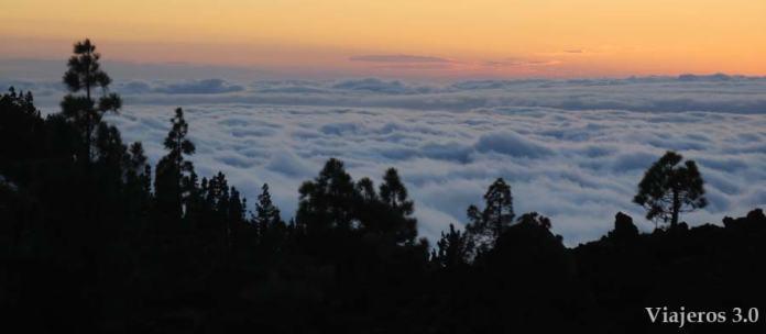 Qué ver en Tenerife: mar de nubes desde El Teide