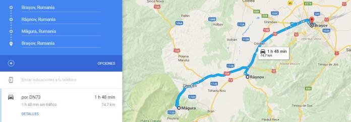 Ruta alrededores de Brasov en Rumanía