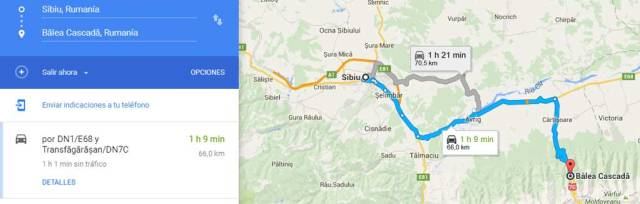 Ruta de Sibiu a las Montañas Fagaras en Rumanía