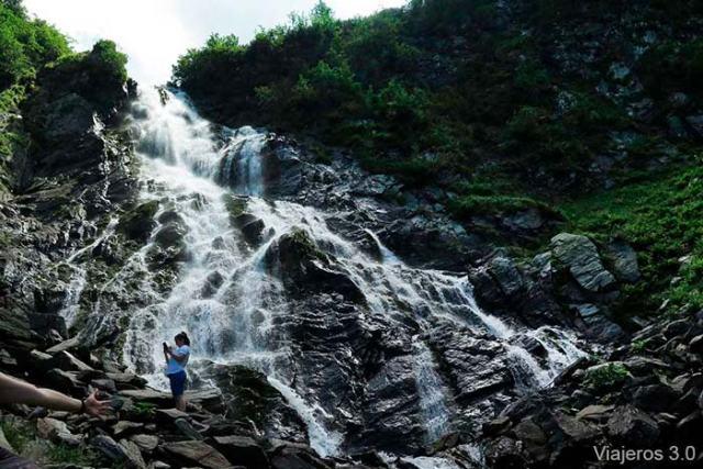 cascada Balea, qué ver en la carretera Transfagarasan