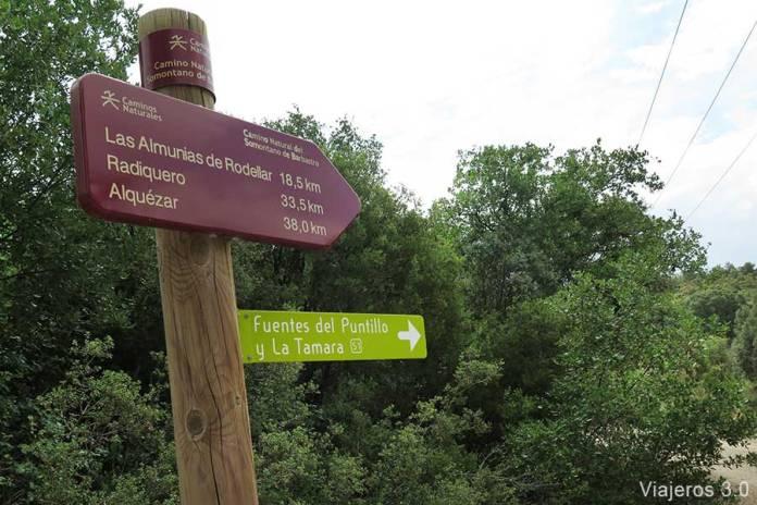 ruta de senderismo Fuente de Tamara