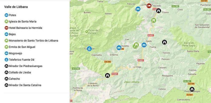 Mapa De Asturias Y Cantabria Juntos.Los Mejores Lugares Que Ver En Potes Y El Valle De Liebana