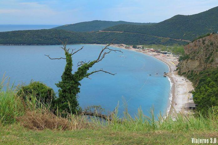 playa de Jaz en Montenegro