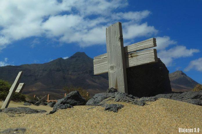 cementerio de Cofete en la península de Jandía