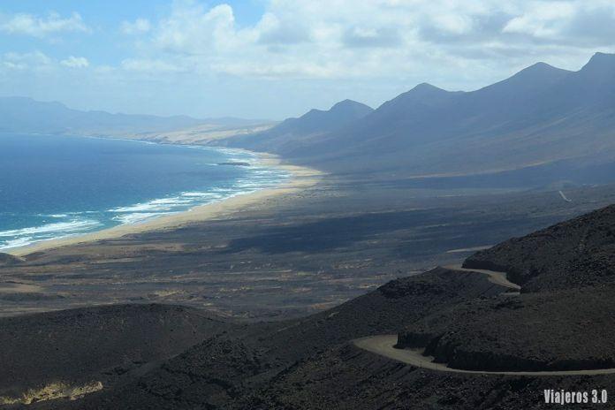 panorámica de playa de Cofete, las mejores playas de Fuerteventura