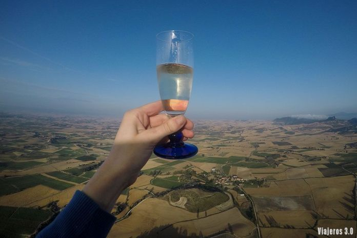brindis, volar en globo por La Rioja