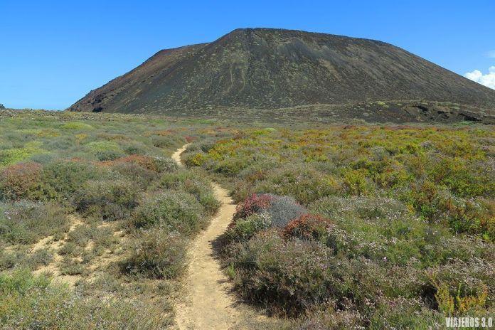 senderos en la isla de Lobos