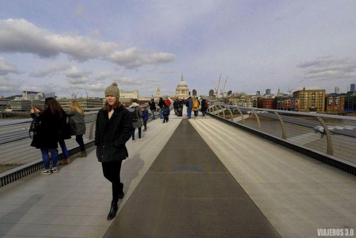 Millenium Bridge, que visitar en Londres en 1 o 2 días
