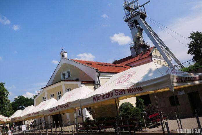 Entrada de Minas de Sal de Wieliczka.