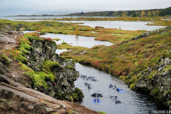 Silfra, Ruta del Círculo Dorado en Islandia