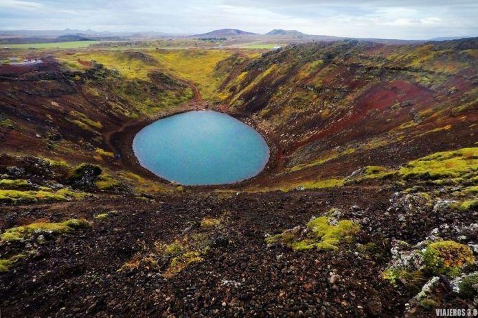 Ruta del Círculo Dorado en Islandia, Cráter Kerio