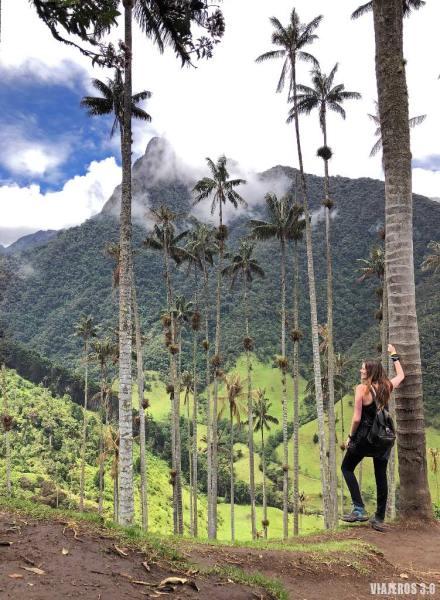Rebeca Serna de Viajeros 3.0 en el Valle de Cocora