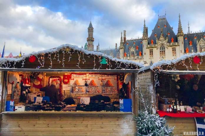 Brujas, mercados navideños en Bélgica