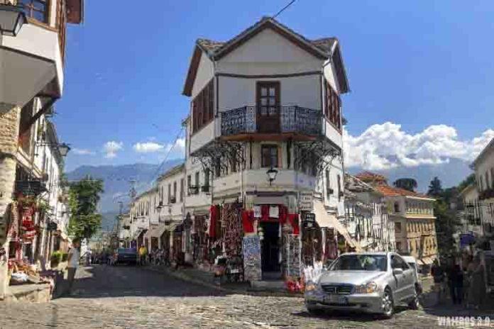 Centro histórico de Gjirokastra.