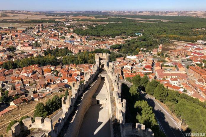 Vista general Peñafiel, ruta por los castillos de Valladolid