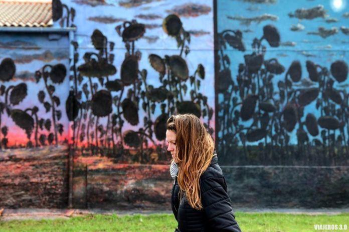 Murales de Tubilla del Lago, los girasoles