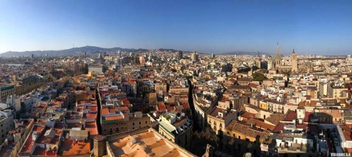 Santa María del Pi, miradores de Barcelona
