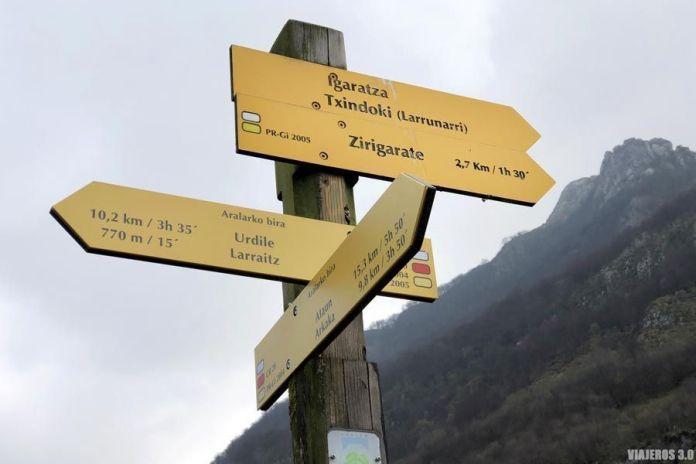 Ruta de ascenso al Txindoki