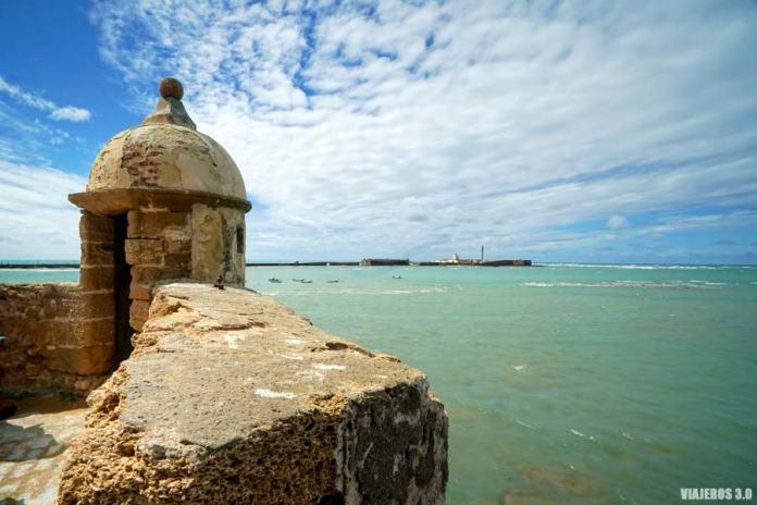 Fortaleza de Santa Catalina en el centro de Cádiz.