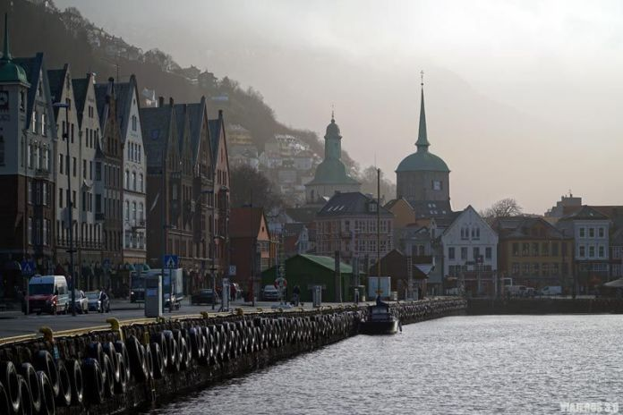 Vista panorámica del centro de Bergen