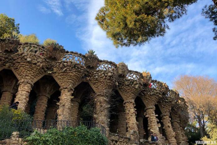 Columnas en el Parque Güell.