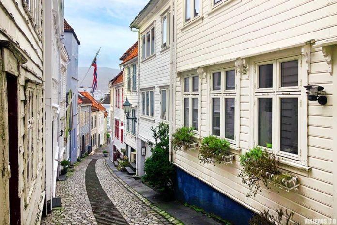 Callejuelas en Nordnes, un imprescindible que ver en Bergen.