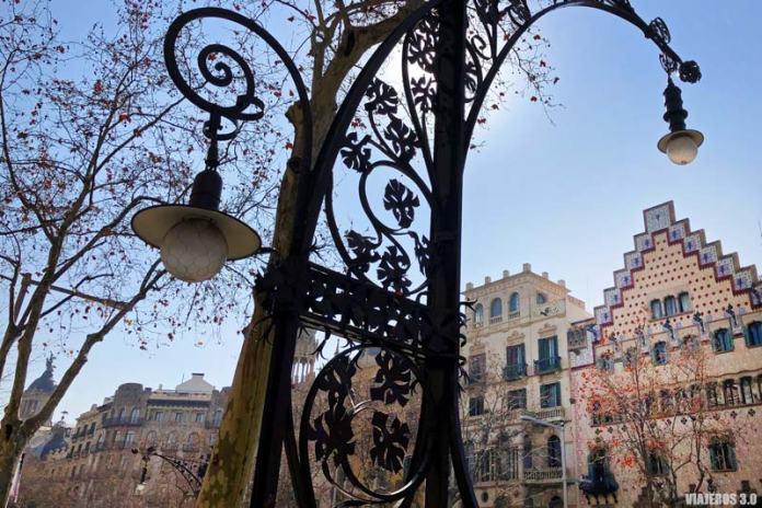 Casa modernistas en Barcelona.